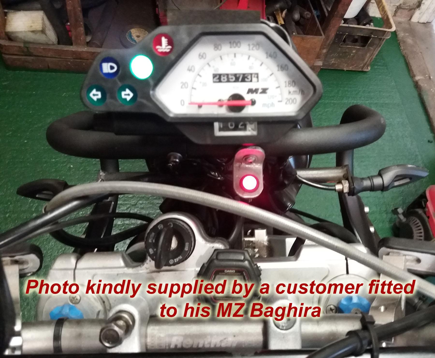 Icmcom Battery Alternator Ignition Warning Lights Charge Monitors 2wire Diagram Yamaha Mz Baghira Light