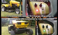 Universal fit Charge Warning light with 10mm Tri-colour LED